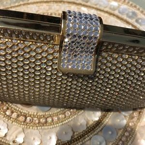"Handbags - ""Diamond"" Crystal Hard Clutch Bag  Almost New"
